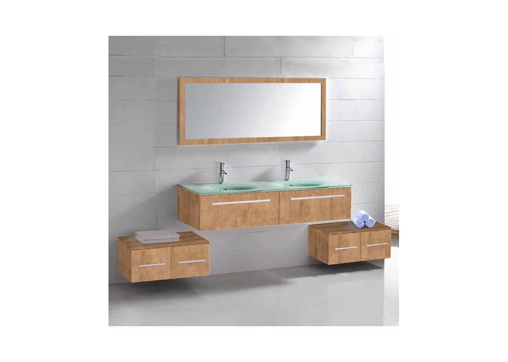 meuble salle de bain couleur bois naturel obtenez des id es de design. Black Bedroom Furniture Sets. Home Design Ideas