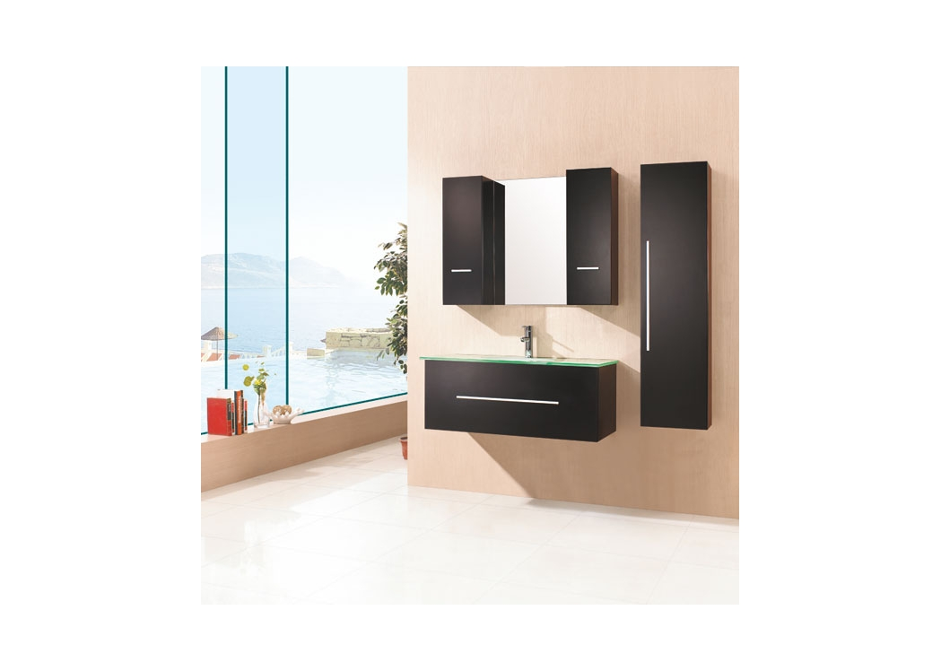 meuble de salle de bain simple vasque weng sd949w. Black Bedroom Furniture Sets. Home Design Ideas