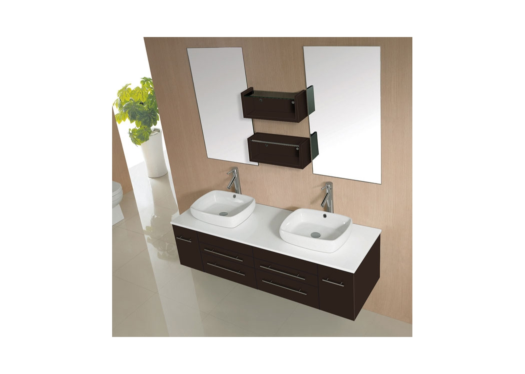 meuble de salle de bain double vasque weng sd619mw. Black Bedroom Furniture Sets. Home Design Ideas