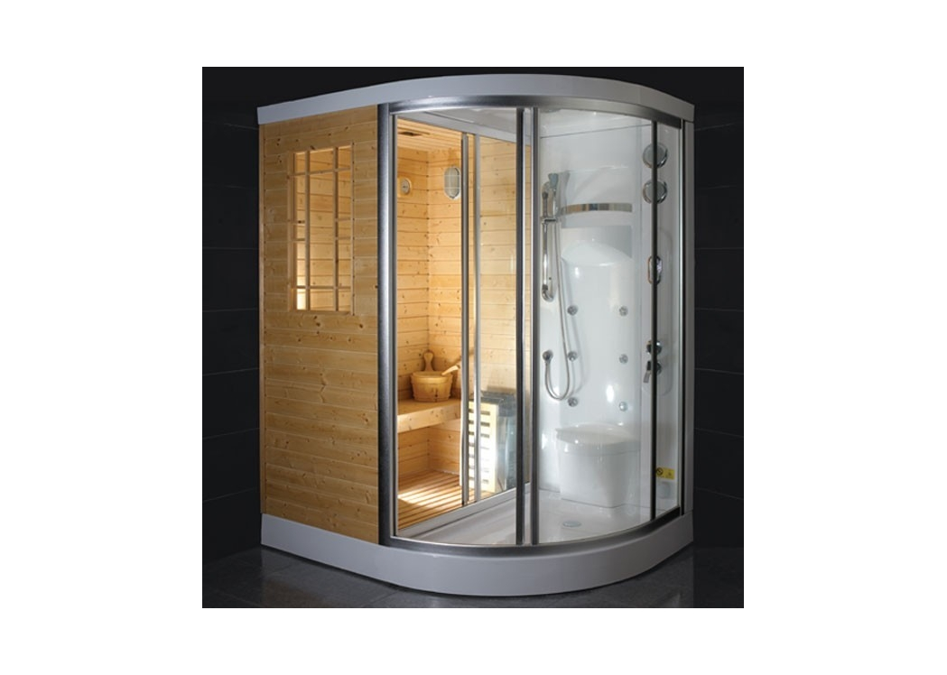 cabine de douche hydromassante hammam sauna 6 jets blanche himalaya. Black Bedroom Furniture Sets. Home Design Ideas