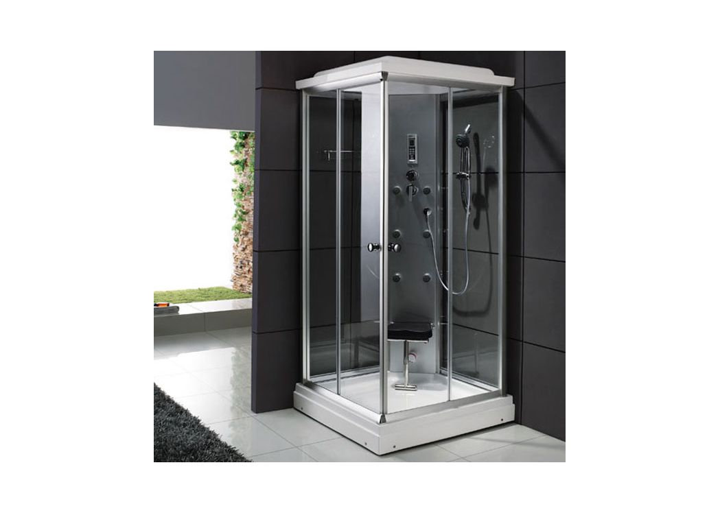 cabine de douche hydromassante 6 jets blanche saigon. Black Bedroom Furniture Sets. Home Design Ideas