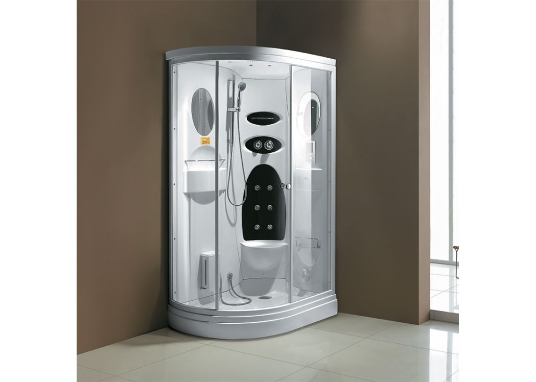 cabine de douche hydromassante 16 jets blanche niagara droite. Black Bedroom Furniture Sets. Home Design Ideas