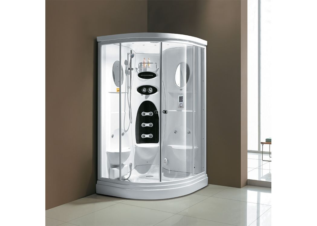 cabine de douche hydromassante 22 jets blanche cancun. Black Bedroom Furniture Sets. Home Design Ideas