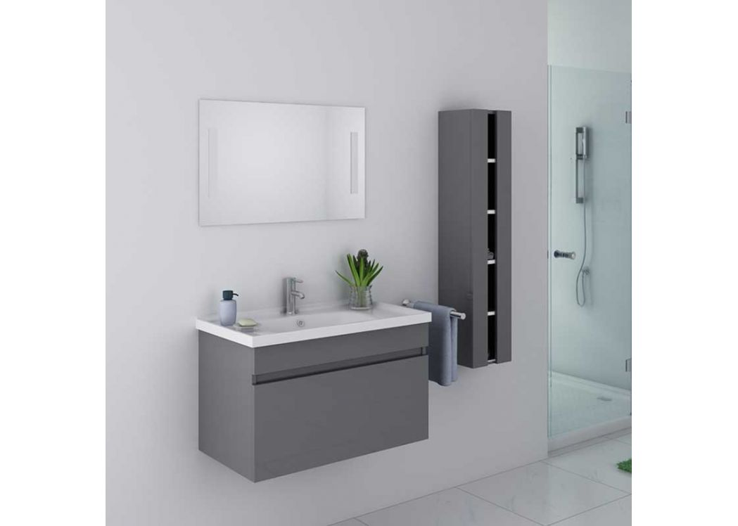 meuble salle de bain gris taupe meuble salle de bain 1 vasque dis800agt. Black Bedroom Furniture Sets. Home Design Ideas