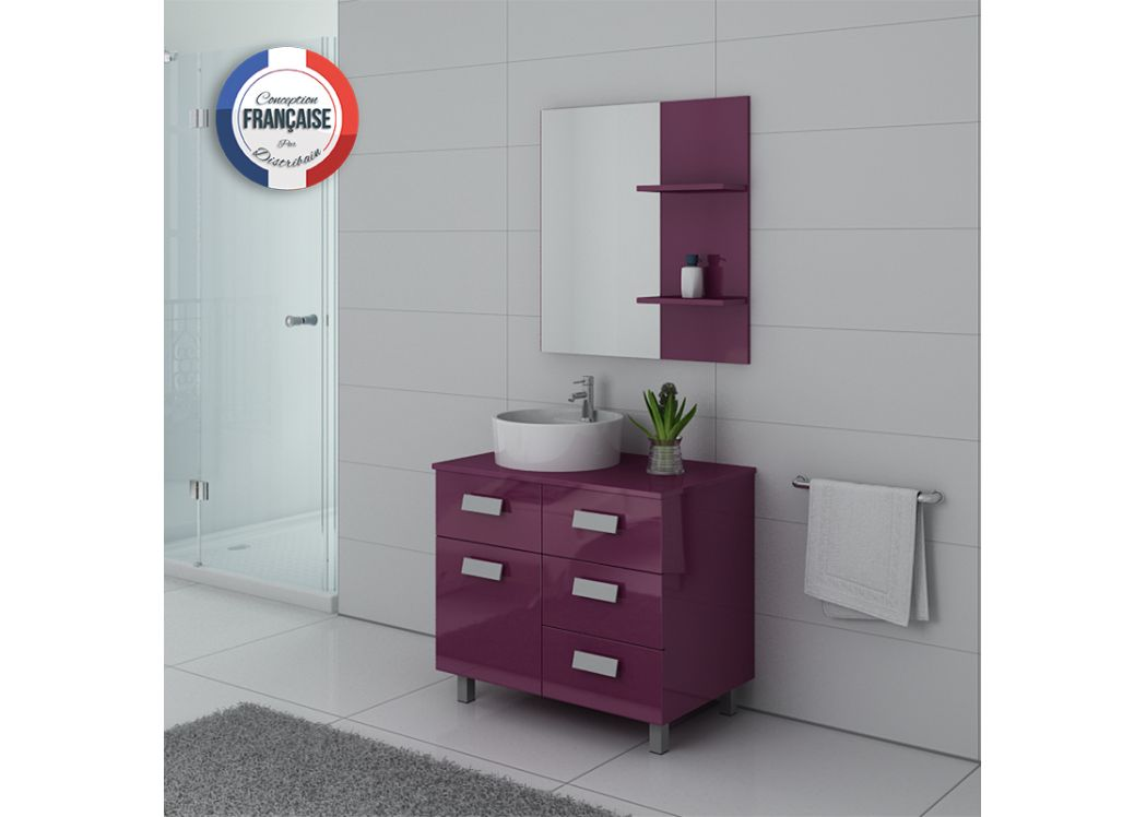 ensemble meuble salle de bain meuble salle de bain 1 vasque aubergine milan au. Black Bedroom Furniture Sets. Home Design Ideas