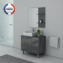 FLORENCE GT Meuble simple vasque Gris Taupe
