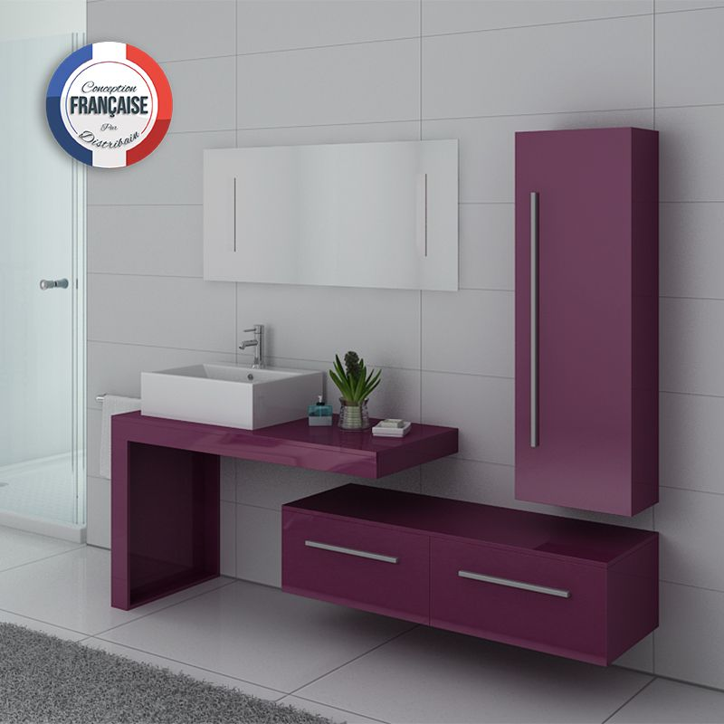 ensemble meuble salle de bain meuble salle de bain aubergine dis9250au. Black Bedroom Furniture Sets. Home Design Ideas