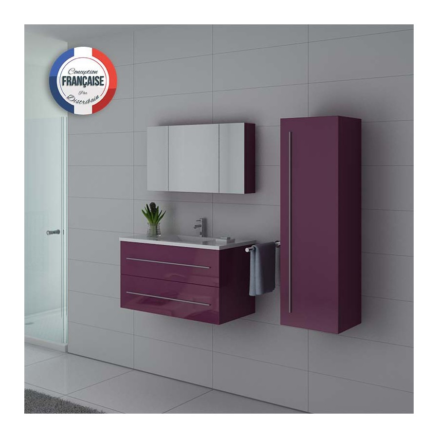 nova au meuble salle de bain aubergine. Black Bedroom Furniture Sets. Home Design Ideas