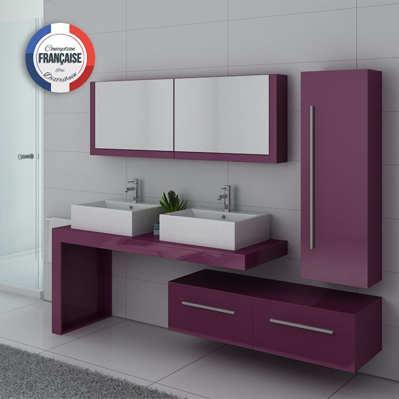 salle de bain couleur aubergine beautiful couleur salle de bain en ides de carrelage et. Black Bedroom Furniture Sets. Home Design Ideas