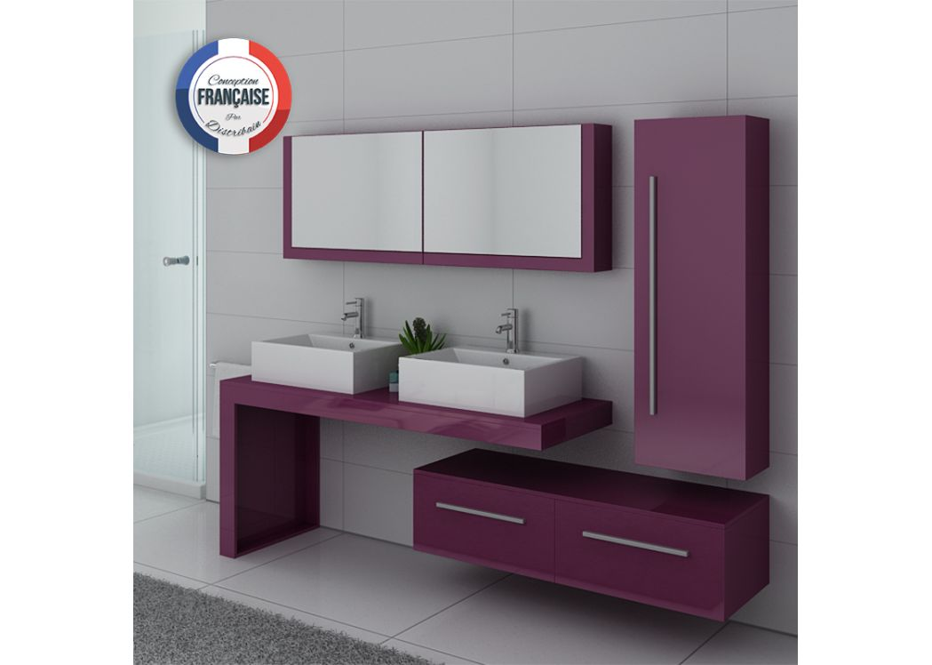 ensemble meubles salle de bain meubles salle de bain aubergine dis9350au. Black Bedroom Furniture Sets. Home Design Ideas