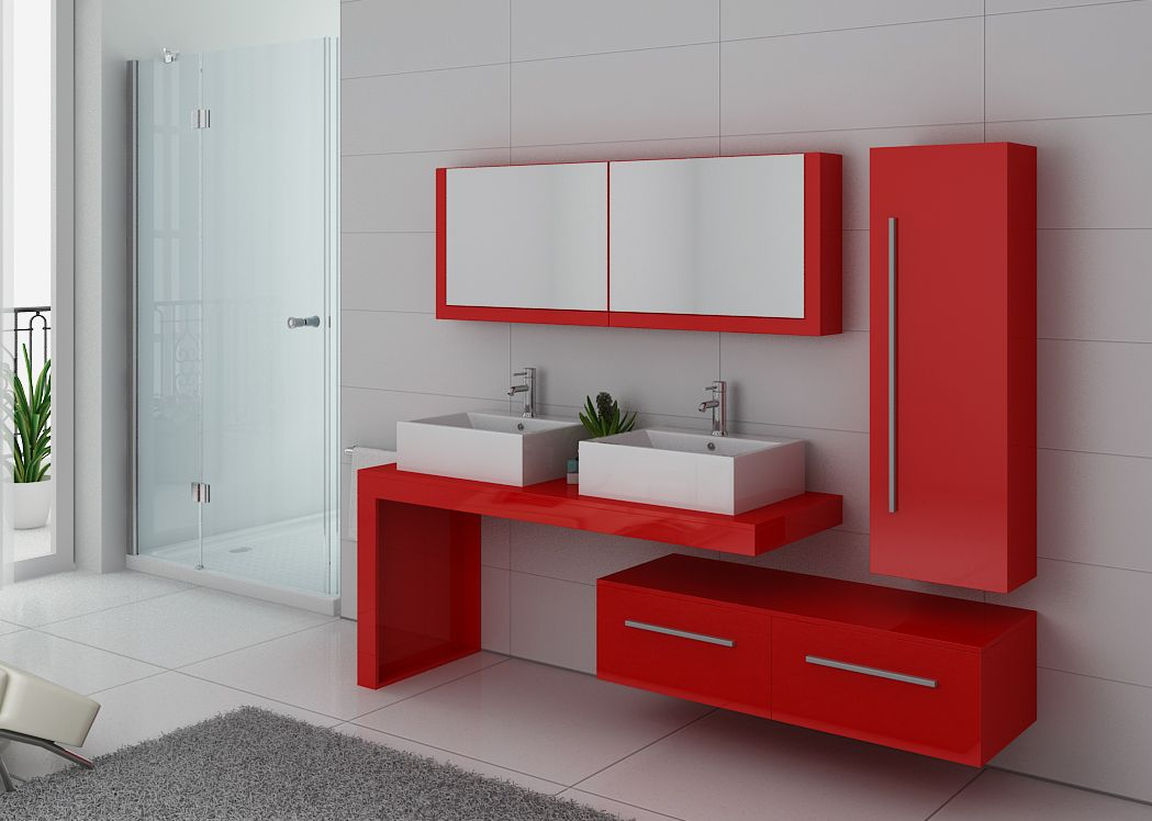 meuble salle de bain rouge salle de bain blanc et rouge. Black Bedroom Furniture Sets. Home Design Ideas