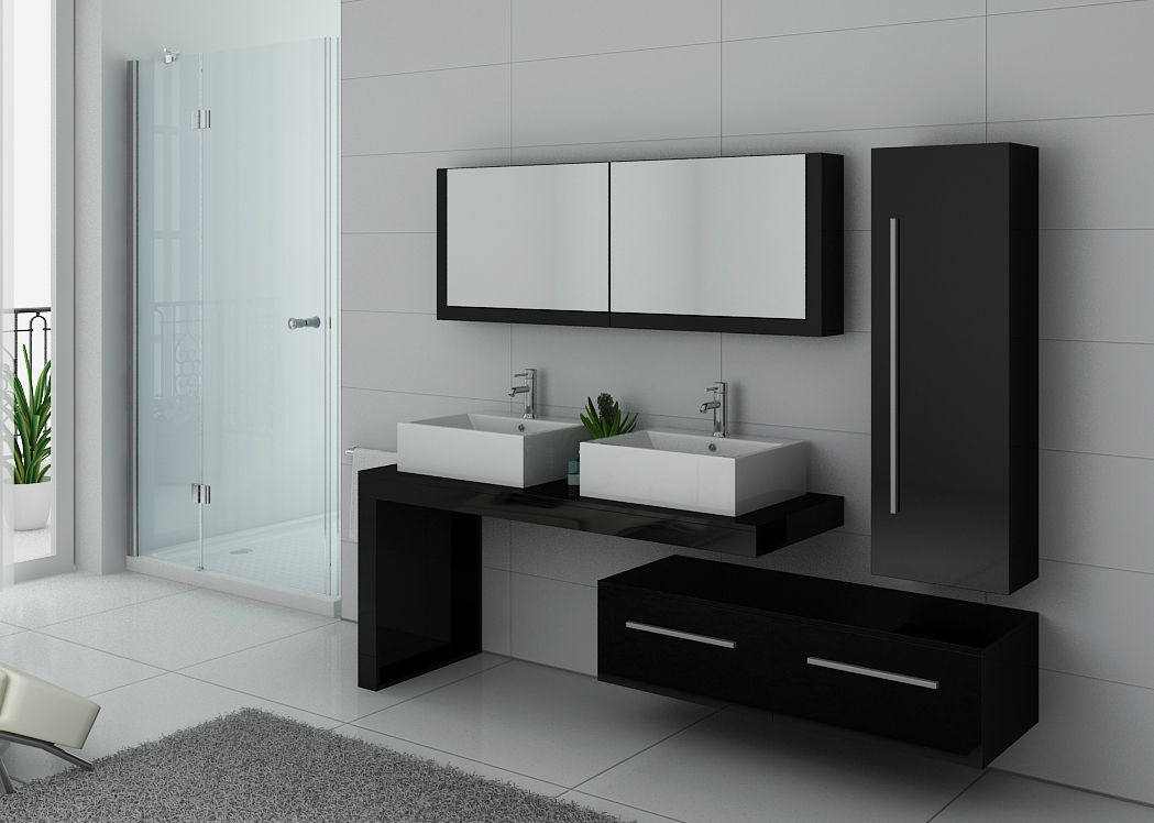 ensemble meubles salle de bain meubles salle de bain noir. Black Bedroom Furniture Sets. Home Design Ideas