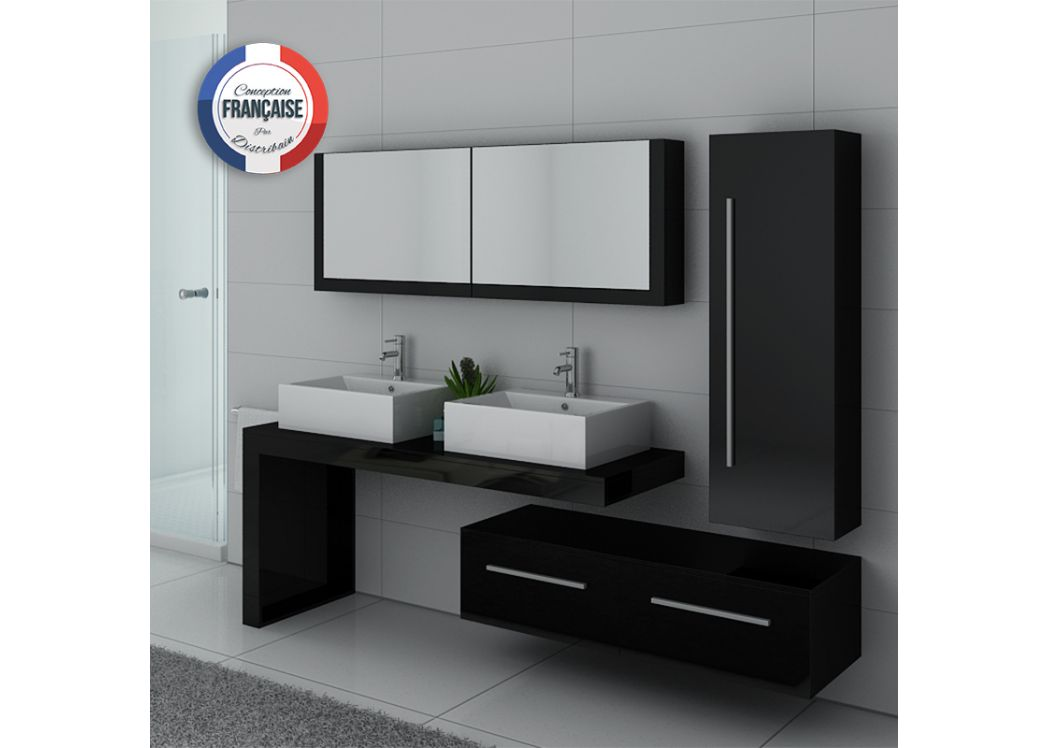 ensemble meubles salle de bain meubles salle de bain noir dis9350n. Black Bedroom Furniture Sets. Home Design Ideas