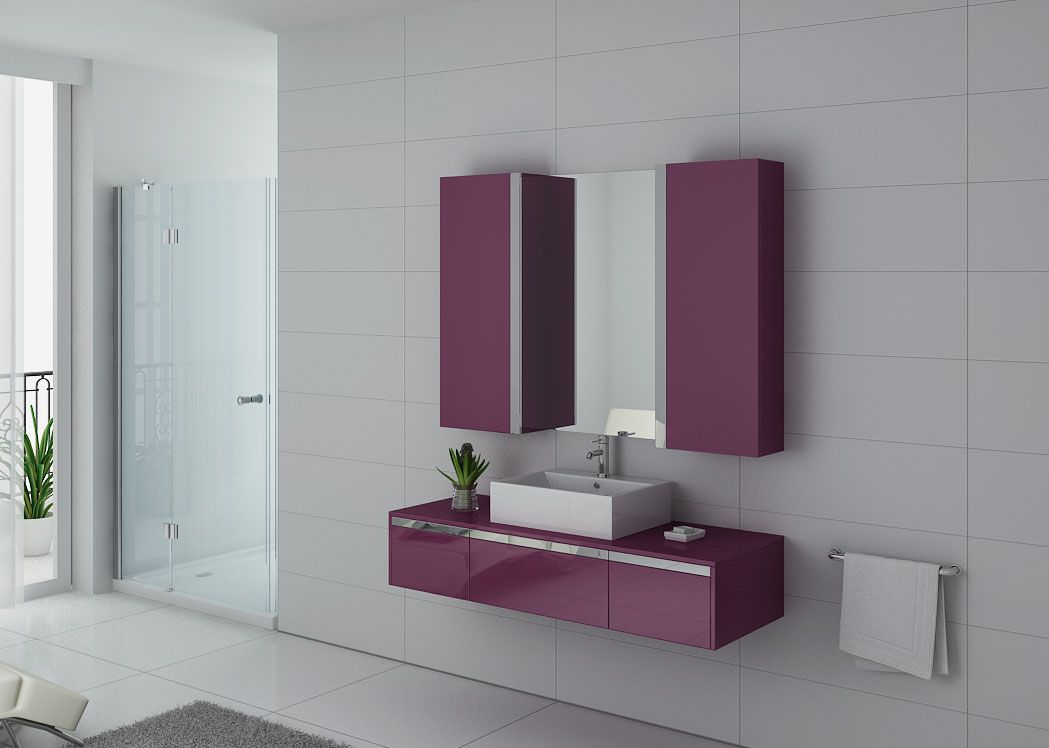 meuble salle de bain violet meuble vasque mr bricolage. Black Bedroom Furniture Sets. Home Design Ideas