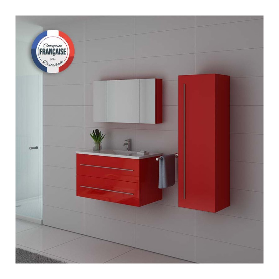 nova co meuble salle de bain rouge coquelicot. Black Bedroom Furniture Sets. Home Design Ideas