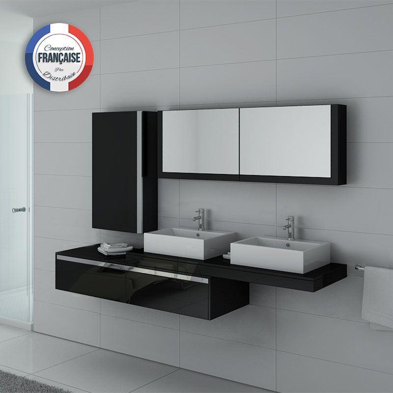 ensemble meubles salle de bain meubles salle de bain noir dis9551n. Black Bedroom Furniture Sets. Home Design Ideas