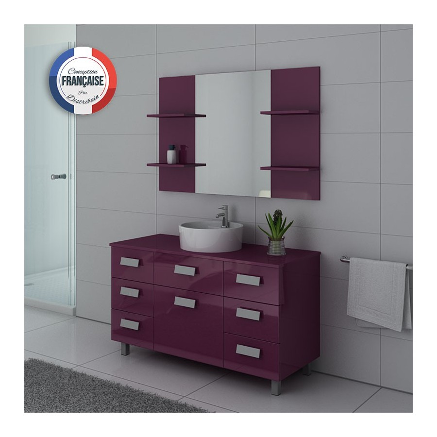 imperial au meuble salle de bain sur pieds aubergine. Black Bedroom Furniture Sets. Home Design Ideas