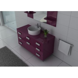 Ensemble simple vasque couleur aubergine IMPERIAL AU