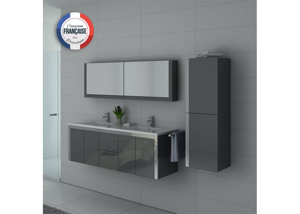 best meuble salle de bain gris double vasque photos