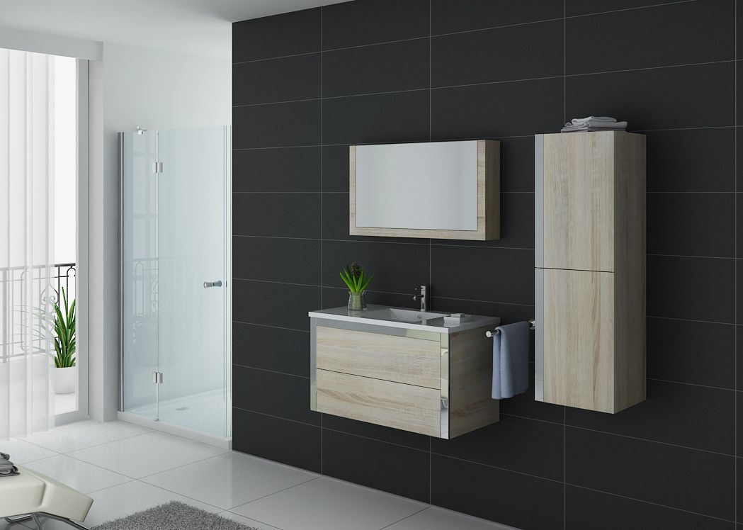 meuble salle de bain 1 vasque dis025 900 scandinave. Black Bedroom Furniture Sets. Home Design Ideas