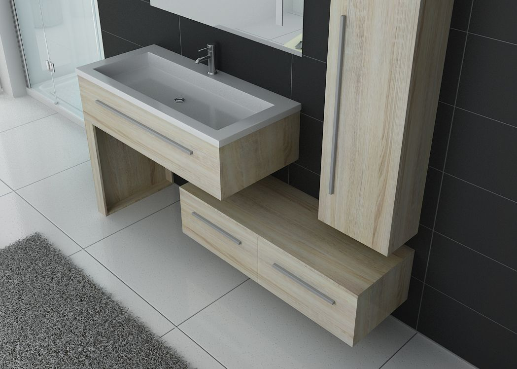 Meuble simple vasque meuble de salle de bain scandinave for Meuble de salle de bain simple vasque