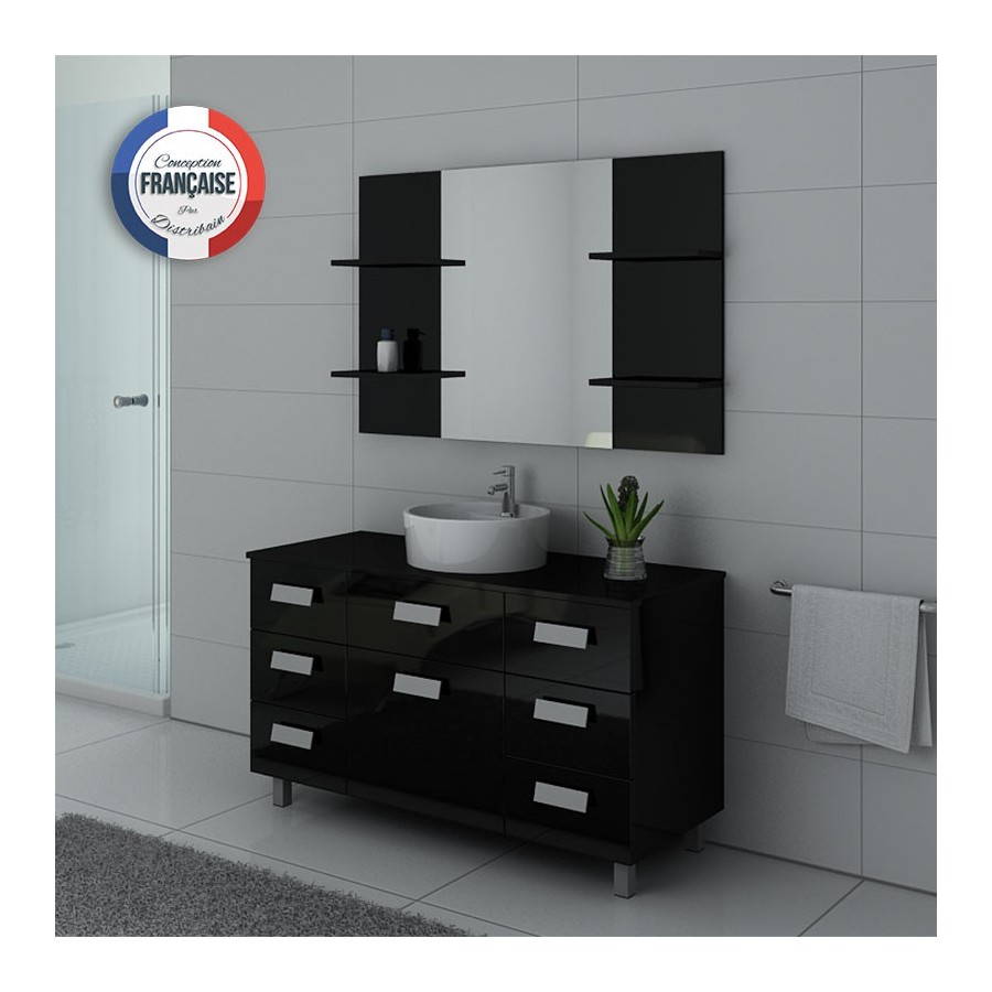 imperial n meuble salle de bain sur pieds noir. Black Bedroom Furniture Sets. Home Design Ideas