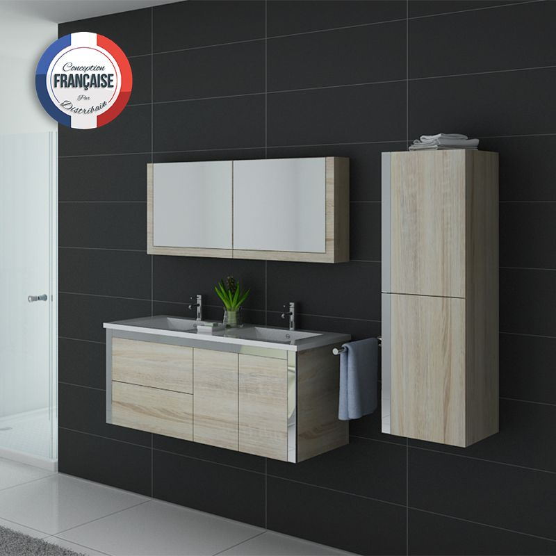meuble de salle de bain double vasque scandinave dis025 1200sc. Black Bedroom Furniture Sets. Home Design Ideas