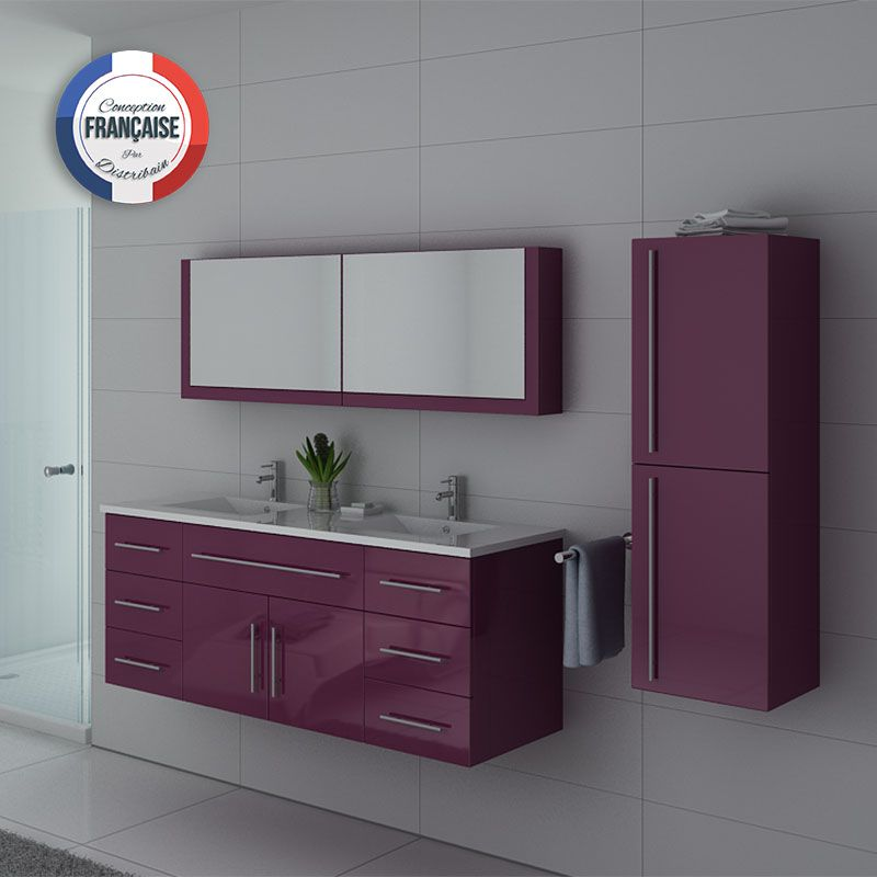 meuble double vasque meuble de salle de bain aubergine. Black Bedroom Furniture Sets. Home Design Ideas