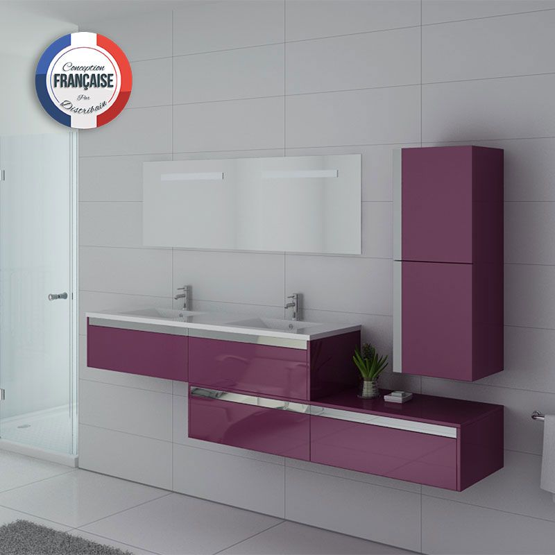 ensemble meubles salle de bain meubles salle de bain aubergine bellissimo au. Black Bedroom Furniture Sets. Home Design Ideas