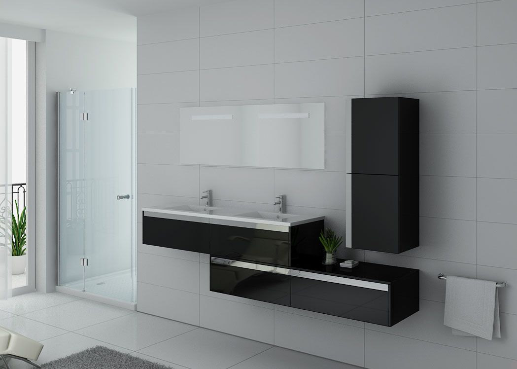 ensemble meubles salle de bain meubles salle de bain noir bellissimo n. Black Bedroom Furniture Sets. Home Design Ideas