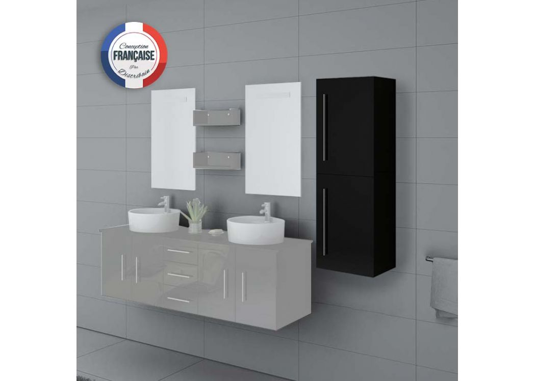 colonne de rangement salle de bain noire suspendre col747n. Black Bedroom Furniture Sets. Home Design Ideas