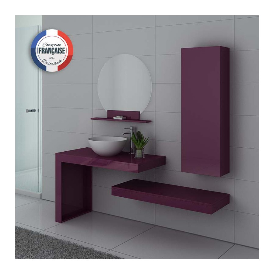 monza au meuble salle de bain aubergine. Black Bedroom Furniture Sets. Home Design Ideas