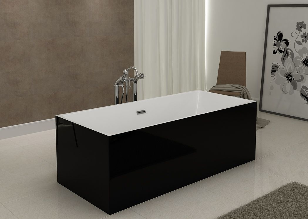 baignoire lot rectangulaire noire burano black baignoire lot rectangulaire en acrylique. Black Bedroom Furniture Sets. Home Design Ideas