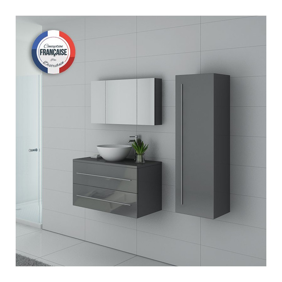 cosenza gt meuble salle de bain gris taupe. Black Bedroom Furniture Sets. Home Design Ideas