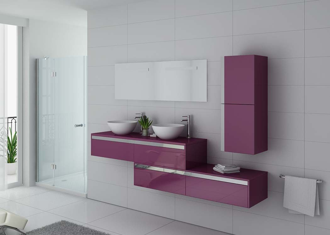 ensemble meubles salle de bain meubles salle de bain aubergine dolce vita au. Black Bedroom Furniture Sets. Home Design Ideas