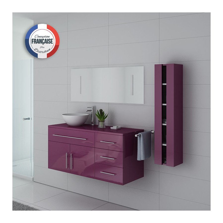 arezzo au meuble salle de bain aubergine. Black Bedroom Furniture Sets. Home Design Ideas