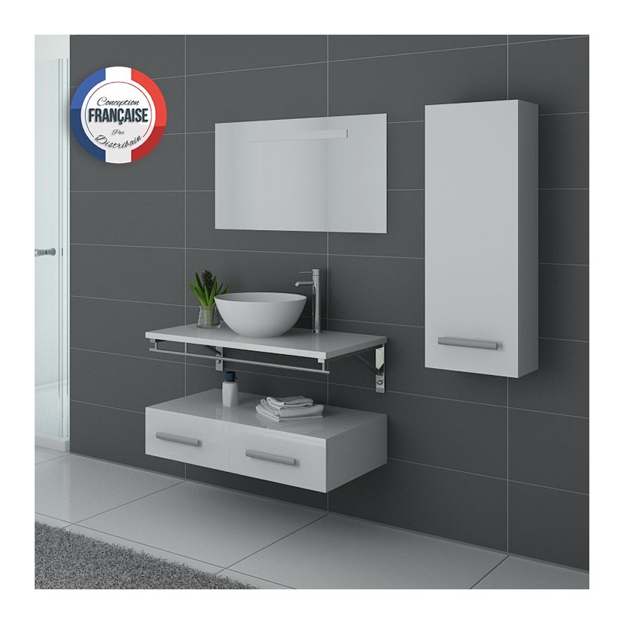 Virtuose b meuble salle de bain blanc for Meuble en solde