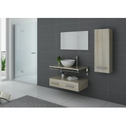 Meuble salle de bain simple vasque VIRTUOSE Scandinave