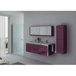 Ensemble double vasque aubergine DIS025-1500AU