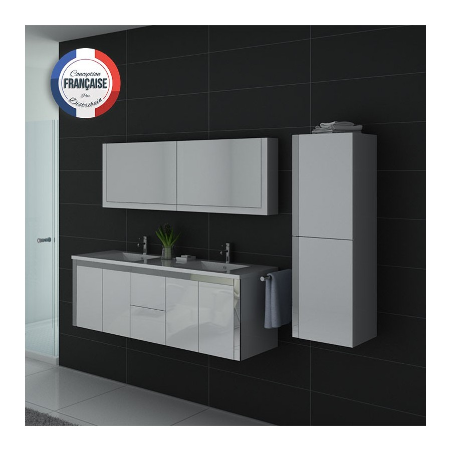 meuble salle de bain blanc dis025 1500b. Black Bedroom Furniture Sets. Home Design Ideas