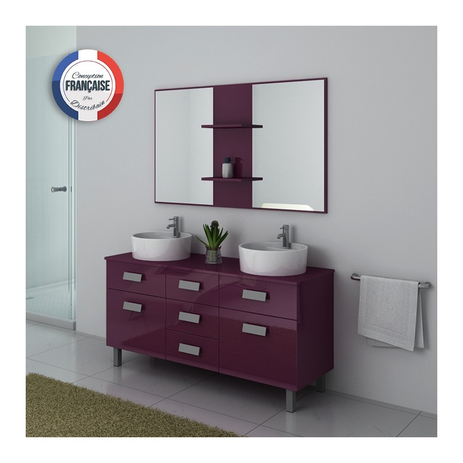 dis911au meuble salle de bain aubergine. Black Bedroom Furniture Sets. Home Design Ideas