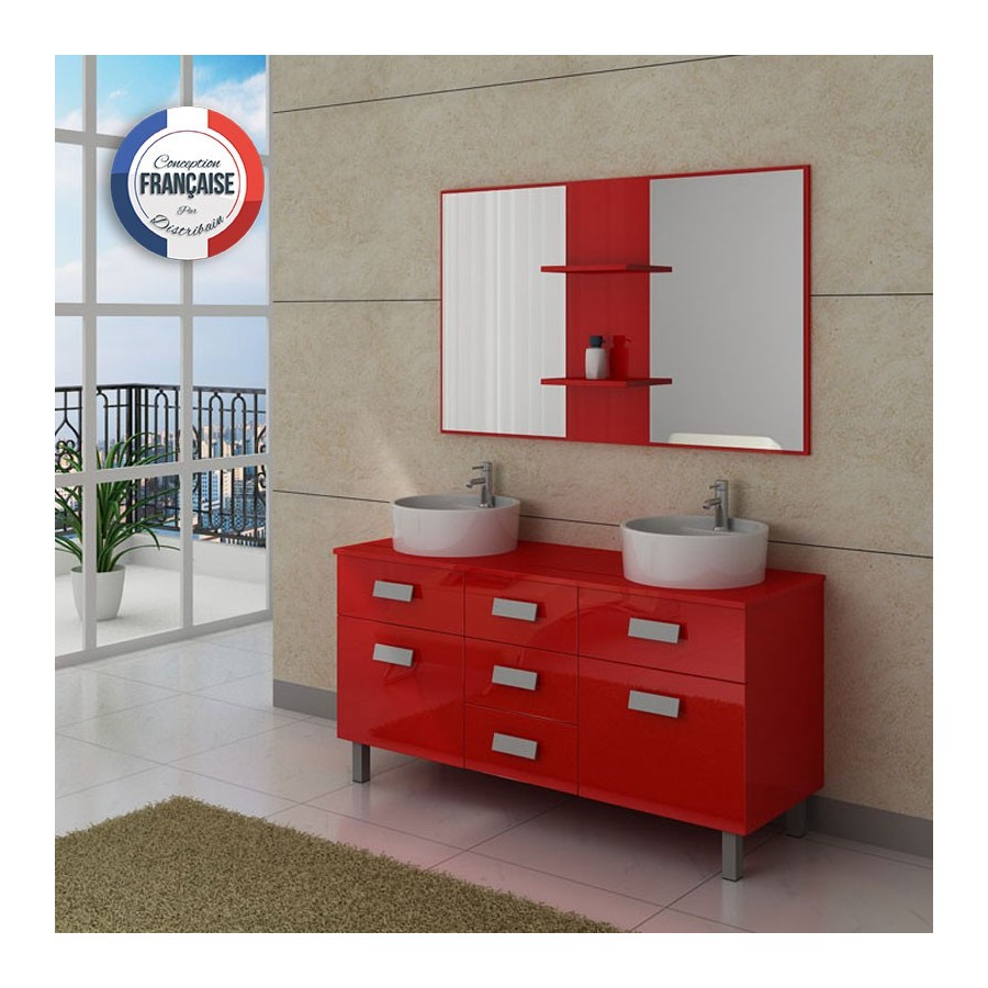 dis911co meuble salle de bain rouge coquelicot. Black Bedroom Furniture Sets. Home Design Ideas