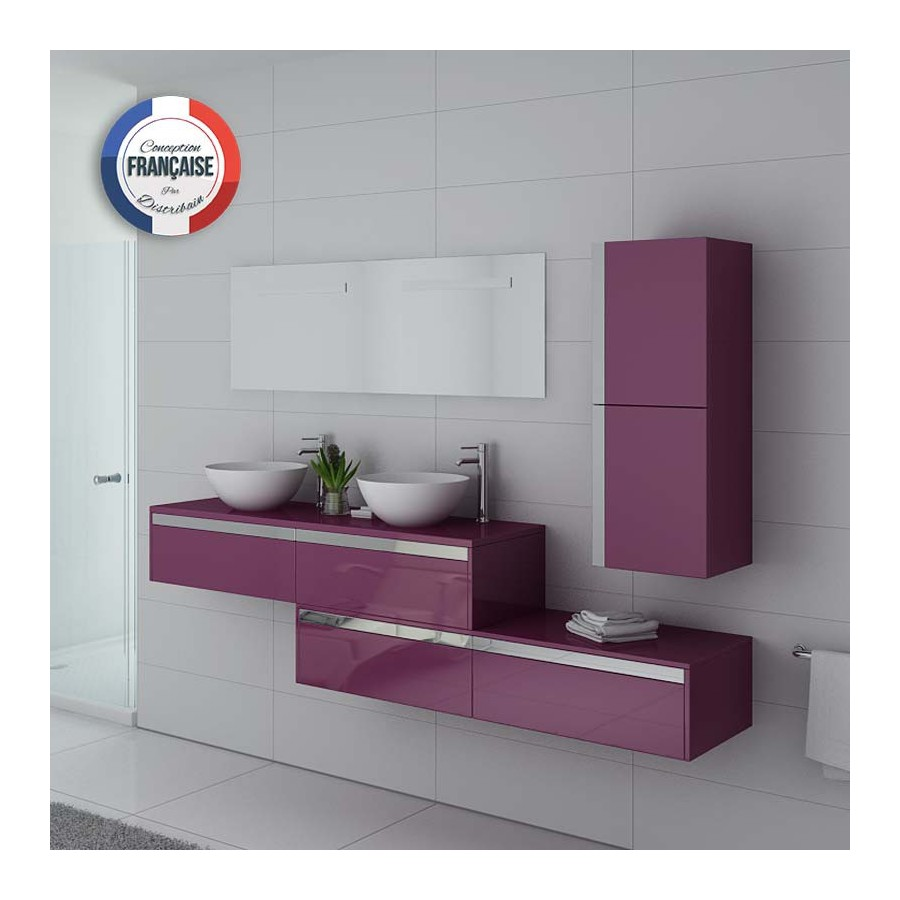 dolce vita au meuble salle de bain aubergine. Black Bedroom Furniture Sets. Home Design Ideas