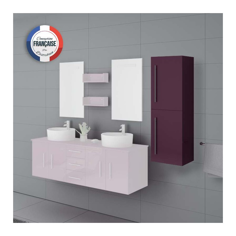 colonne de rangement salle de bain couleur aubergine col747au. Black Bedroom Furniture Sets. Home Design Ideas