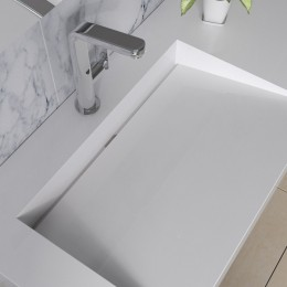 Plan vasque design en solid surface SDPW12-A