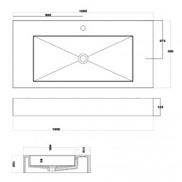 Plan vasque solid surface Réf : SDPW16