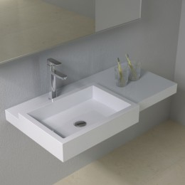 Plan vasque solid surface moderne SDPW48