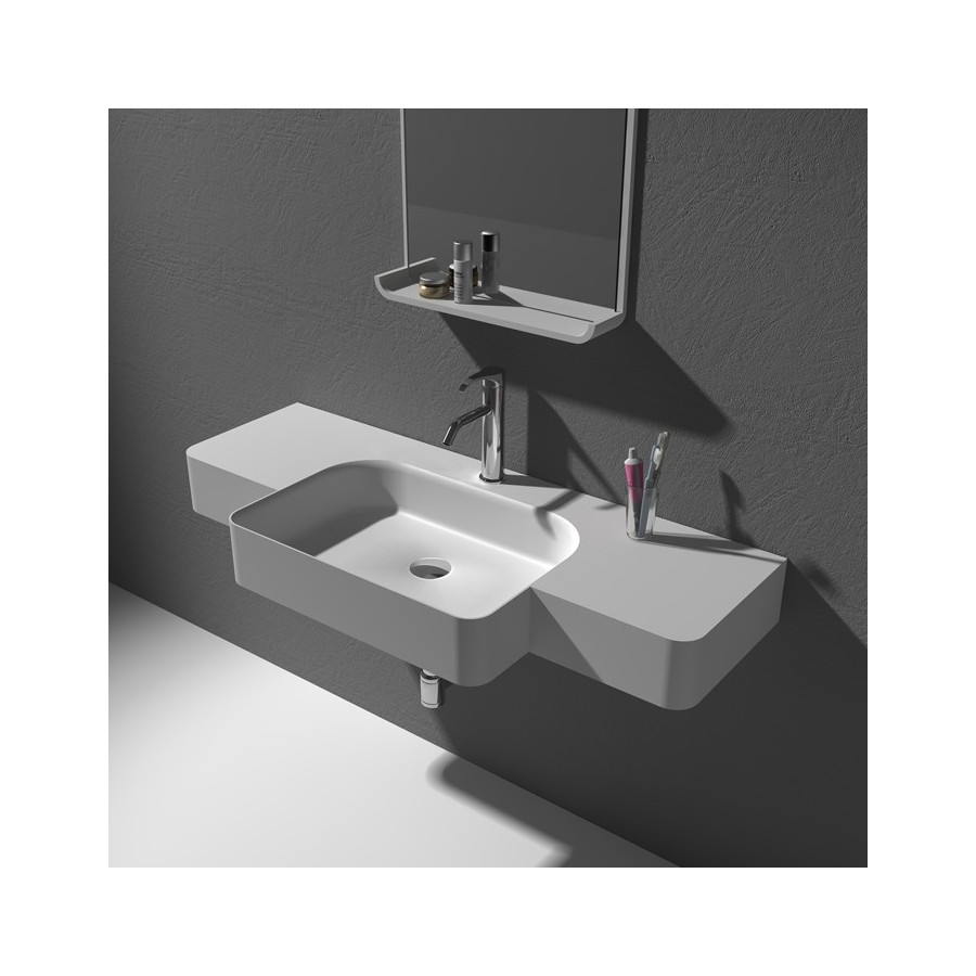 Large plan vasque en solid surface SDWD38189