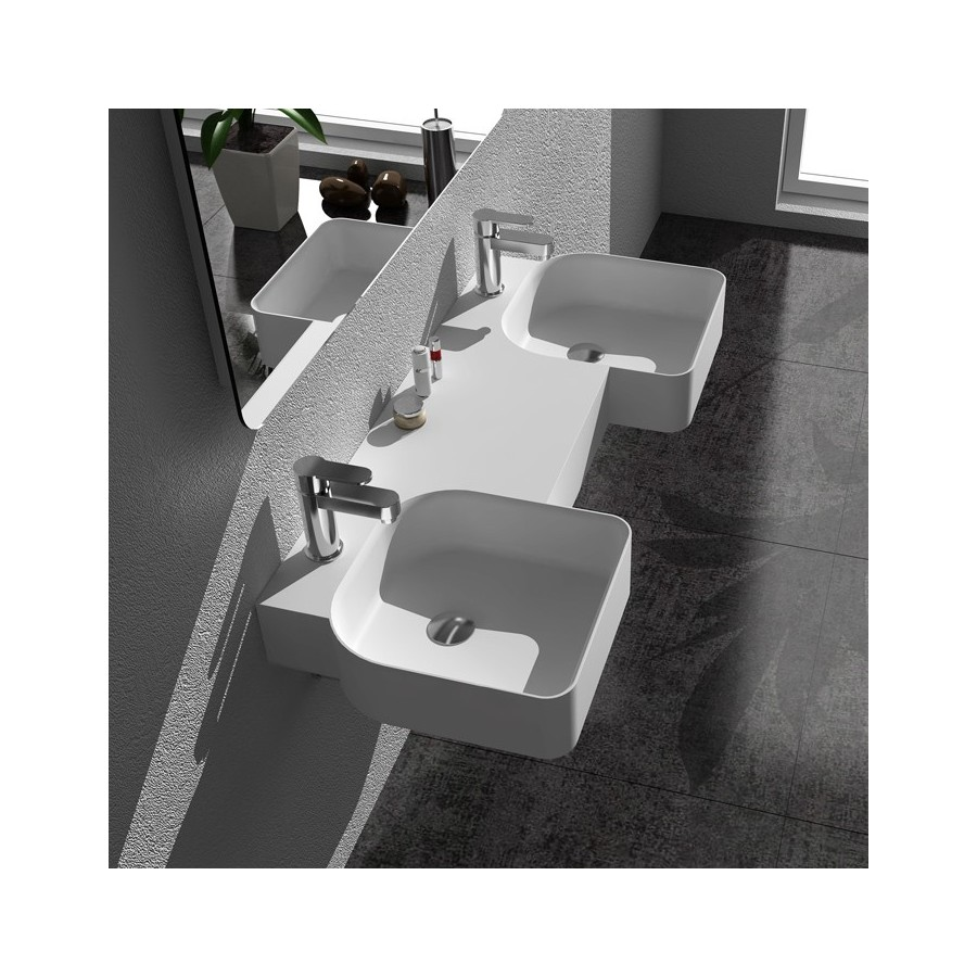 Plan vasque solid surface Réf : SDWD38190
