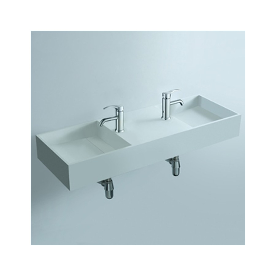 Double plan vasque solid surface Réf : SDWD3830